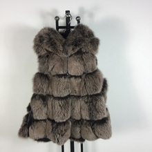 High quality winter coat fashion luxury women s jacket gilet vests fox jacket real fox fur
