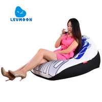 LEVMOON Beanbag Sofa Chair Little Monster Seat Zac Comfort Bean Bag Bed Cover Without Filler Cotton