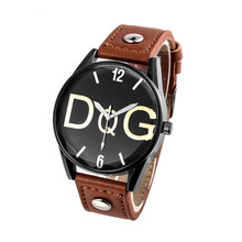 zegarki meskie Mens Watch Top Brand Luxury Fashion Business Sports Leather Quartz  reloj hombre