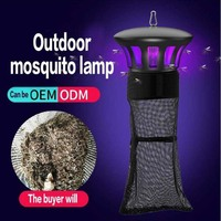 Agricultural Mosquito Killer Lamp racket 15W Photocatalyst Inhalant Mosquitos Trap UV Lamps Outdoor Pest Control Bug Zapper 220V