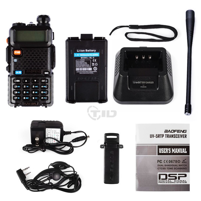 2Pcs Baofeng UV-5R Walkie Talkie VHF / UHF136-174Mhz & 400-520Mhz - Пераносныя рацыі - Фота 6