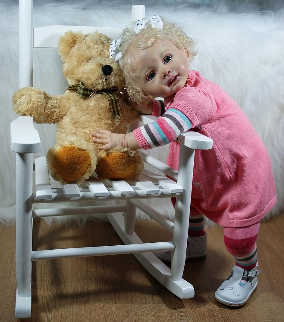 ФОТО Instock reborn toddler kit Fridolin lifelike soft silicone vinyl real gentle touch