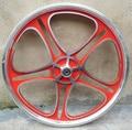 Colinas whells 14 16 20 pulgadas de aluminio de la bicicleta la rueda de una pieza carretera bicicleta de montaña aro de alambre rueda melocotón