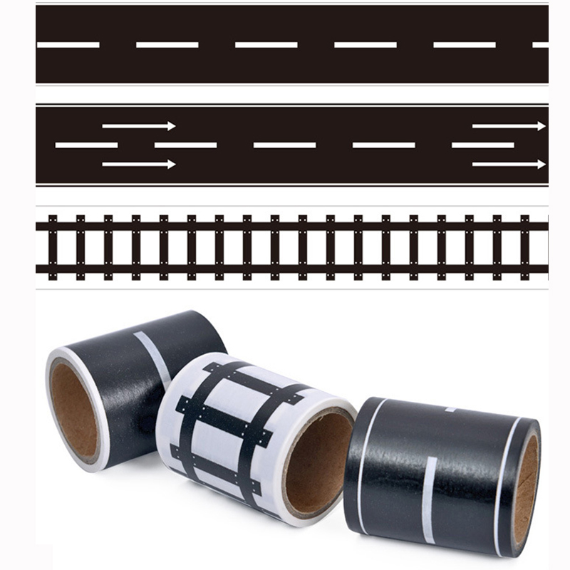 DIY Railway Road Play Traffic Tape Sticker Wide Creative Roads Adhesive Masking Tape Scotch Road For Kids Toy Car Train Play