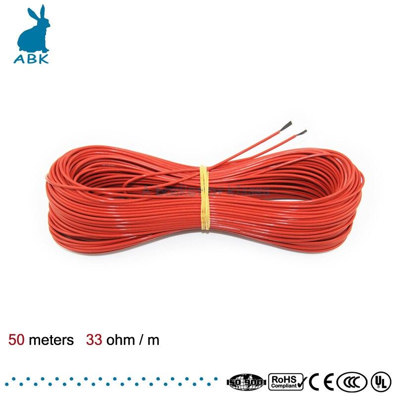 Aliexpress.com : Buy F12K 50meters 33ohm Teflon PTFE Carbon fiber ...