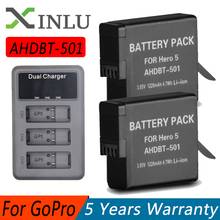GoPro AHDBT501 Hero5 Battery + USB 3-Port Charger with Type C Port for 501 GoPro 2018 Hero 5 GoPro Hero 6/7 Camera Battery 3pc for gopro 2018 gopro hero 5 battery 1600mah gopro 6 7 battery usb battery charger type c for gopro hero5 black accessories page 3 page 6 page 9 page 10