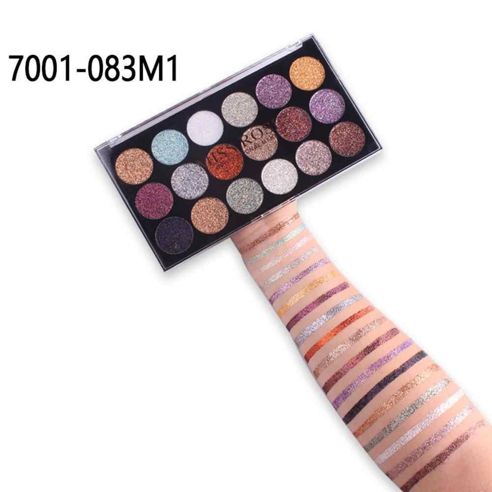 Paleta de sombra de ojos de diamante brillante de 18 colores sombra de ojos brillante de larga duración juego de maquillaje de sombra de ojos pigmentada encantadora sombra de ojos