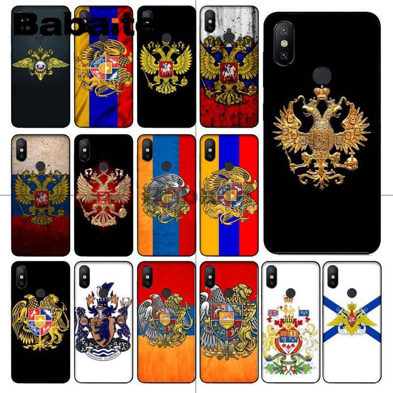 Babaite Armenia russia Flag coat of arms Soft silicone Phone Cover For redmi 5plus 5A 6pro 4X note5A note4x note6pro 6A Cover