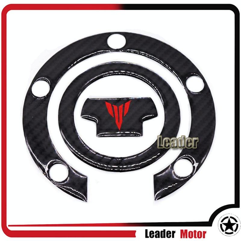 For YAMAHA MT-07 MT-09 MT07 MT09 FZ-07 FZ-09 Motorcycle 3D Carbon Fiber Oil Gas Fuel Tank Cap Tank Pad Tankpad Sticker Protector