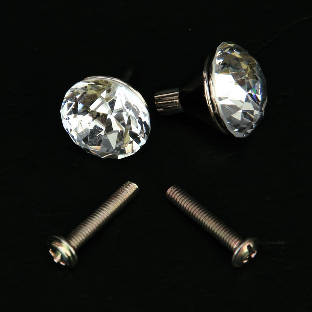 5 Pack 2x Zinc Alloy Small Crystal Drawer Knob Pull Handle