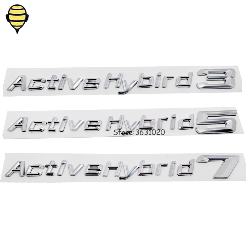 Car Stylin Auto Tail Letter Emblem Badge Sticker for Activehybird logo for BMW 3 5 7 Series Z3 X1 E36 E39 F10 M2 GT 320 525 730 black color car emblem sticker rear tail sticker logo rs3 rs4 rs5 rs6 badge logo 3d aluminum alloy for audi rs3 rs4 rs5 rs6
