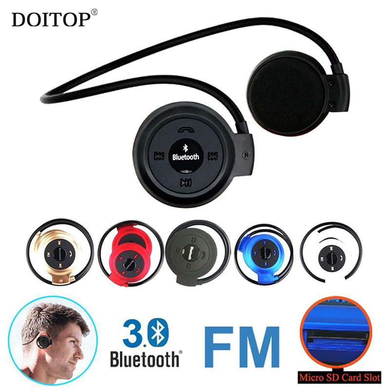 DPITOP Mini Bluetooth Sport Neckband Headphone Stereo Wireless Headset Music Low Bass Earphone Earpiece Support TF Card FM Radio rock y10 stereo headphone earphone microphone stereo bass wired headset for music computer game with mic