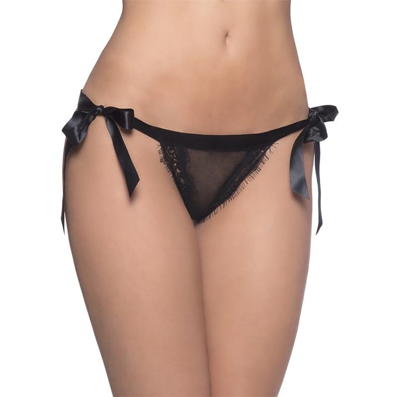 Buy Women Sexy Underwear Open Back Crotch Womens Underwear Lingerie Lace Bandage T Pants Transparent T Pants Women G-String