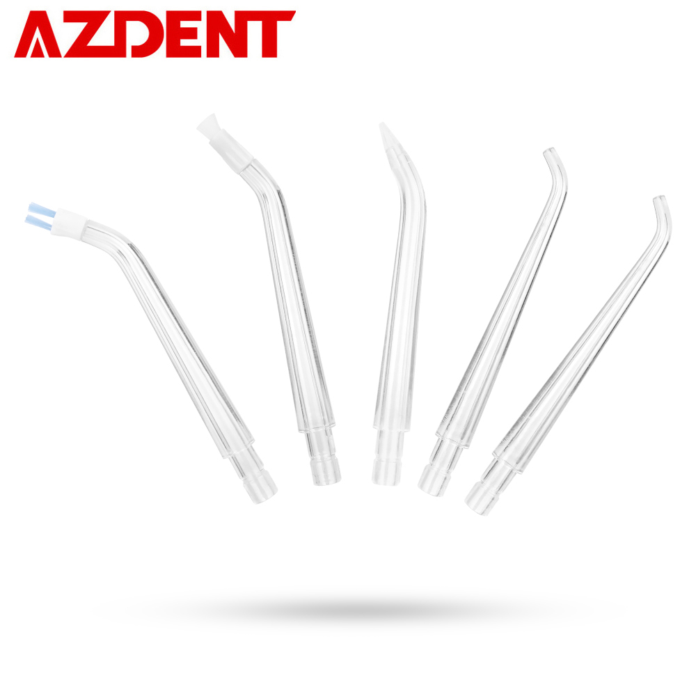 5 Replacement Tips For AZDENT AZ-007 Gen2 / AZ-008 Pro Oral Irrigator Water Dental Flosser USB Rechargeable Waterproof 5 Nozzles