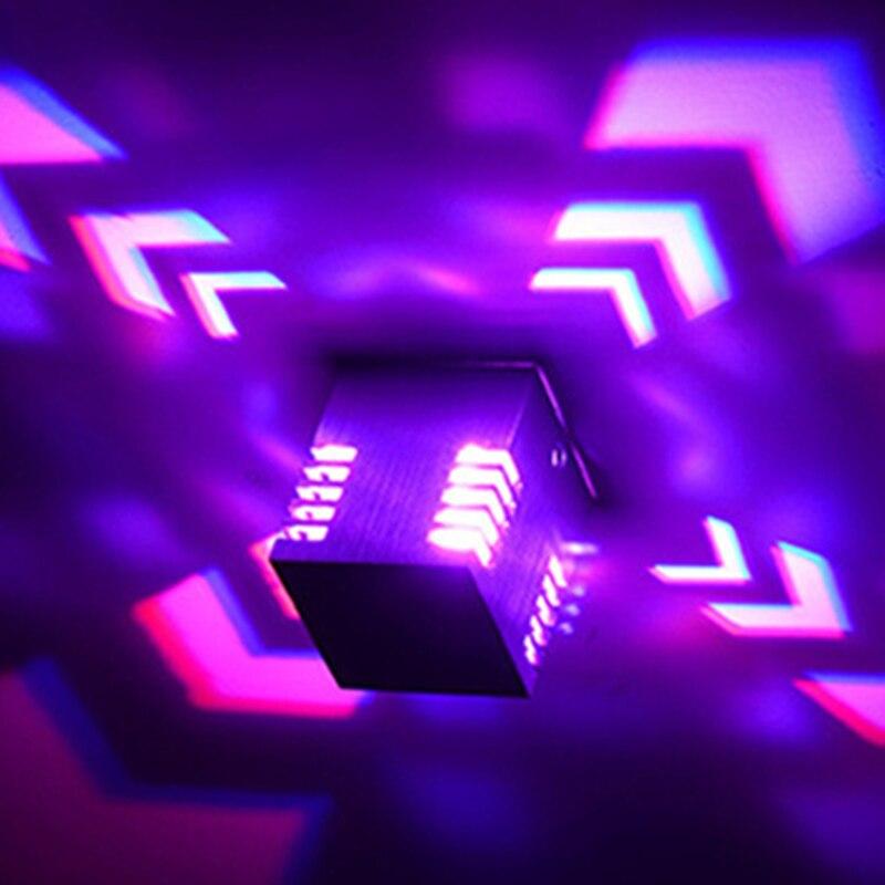 Streng Muur Gemonteerde Led Wandlamp Indoor Led Projectie Kleurrijke Verlichting Muurschildering Armatuur Achtergrond Wandlamp Voor Thuis Hotel Ktv Bar
