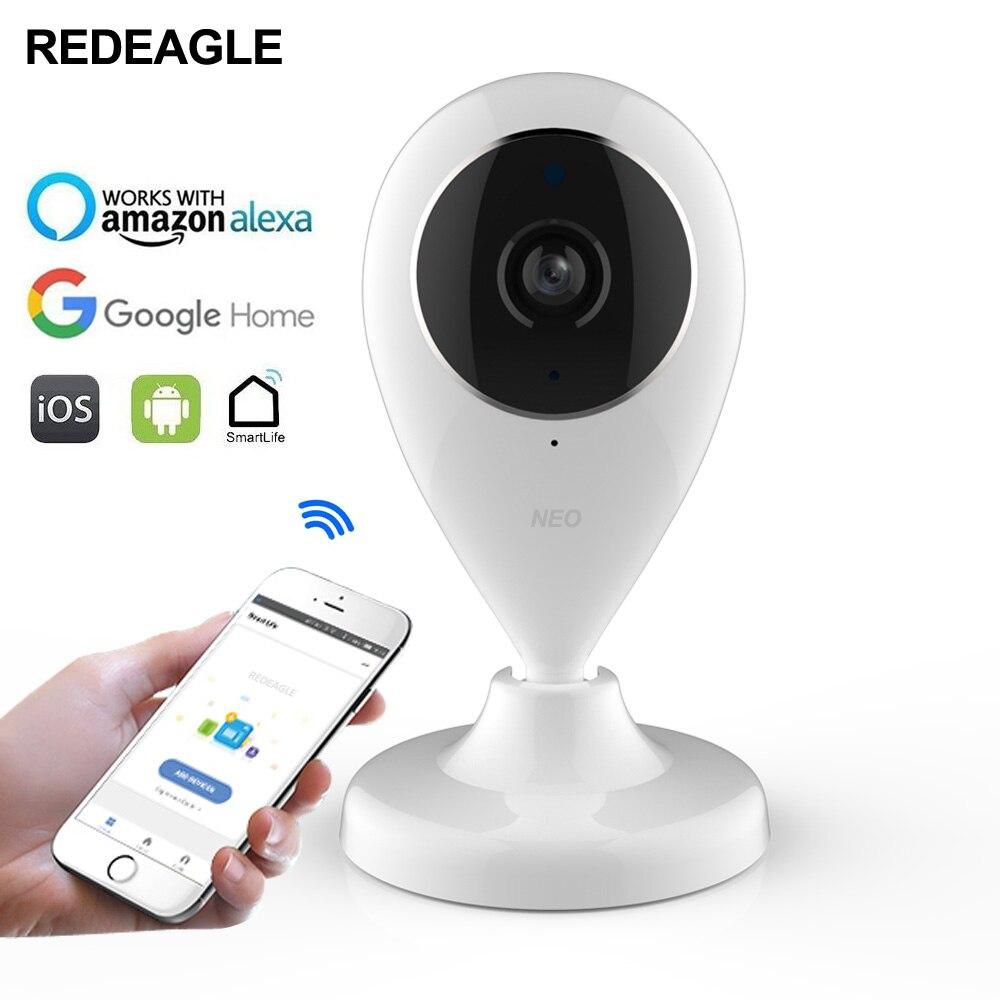 Smart Wifi 720 P Caméra HD Sans Fil Caméra de Surveillance de réseau Compatible avec Alexa Echo Spectacle et Google Maison