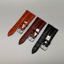 Free Shipping Leather strap mens and womens all-purpose leather bamboo flower crocodile pattern