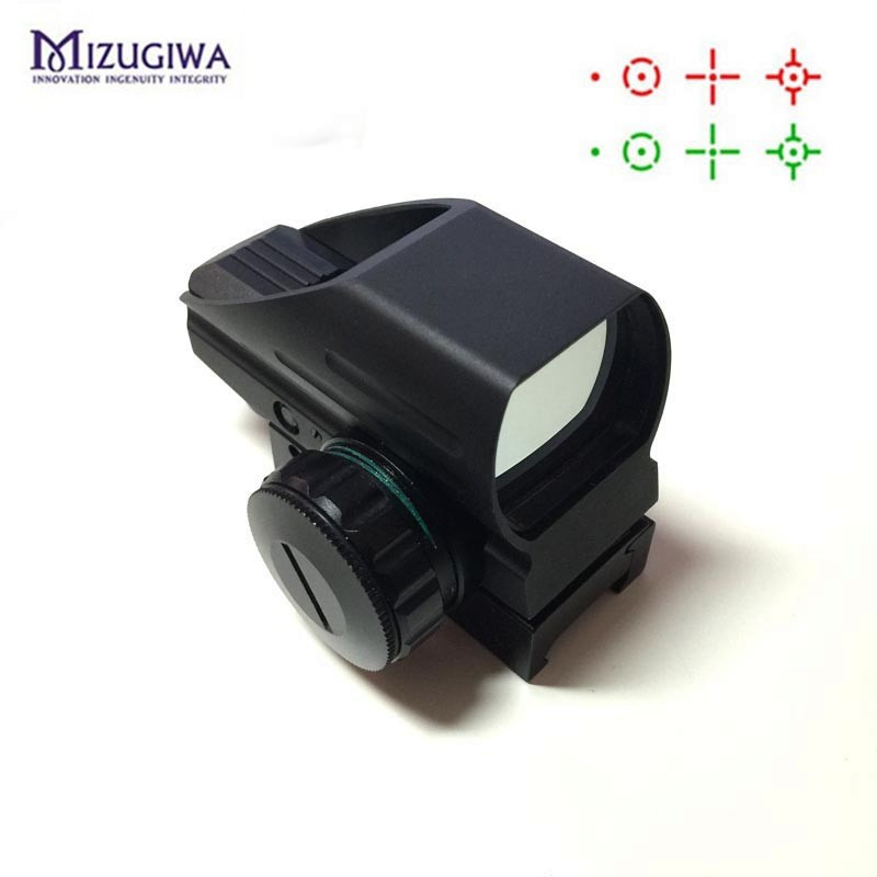 цена на Tactical AK Holographic 1x22x33 Reflex Red Dot Sight Green Red Dot Reflex Scope 20mm Rail Hunting caza viseur point rouge chasse