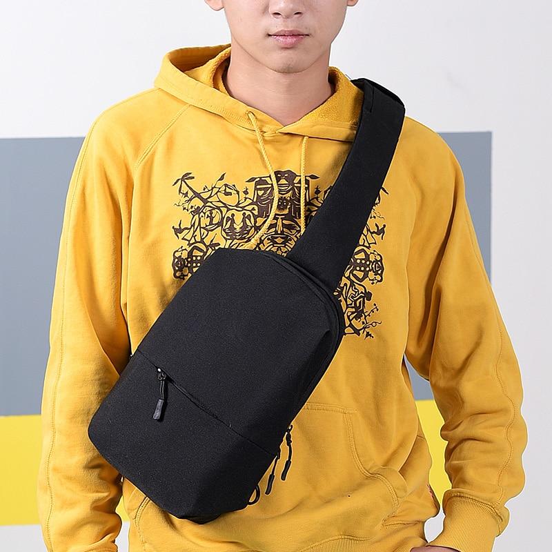 FengDong anti theft crossbody bags for men small shoulder messenger bag pack backbag male sling travel chest bag dropshipping