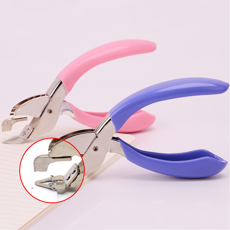 Effortless Hand-Held Metal Staple Remover Upholstery Tools Office School Stapler Binding Tool Nail Pull Out Extractor