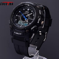 Double Men Outdoor Sports Multi Functional Electronic Students Creative Tide Male Watch Relogio Masculino Waterproof Watch