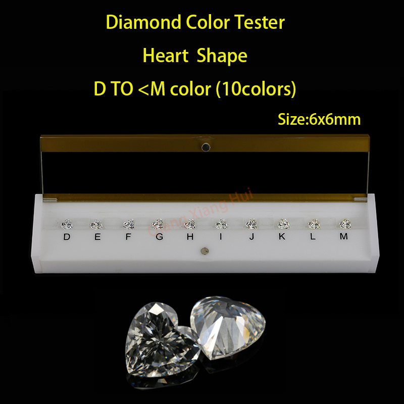 Heart shapes D To N white Color Cubic Zirconia stone diamond grade color Tester Tools недорго, оригинальная цена