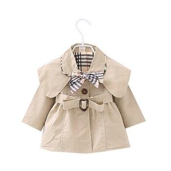 dedbd0a26 Recién Nacido de manga larga prendas de vestir exteriores bebé abrigo niños  marca Giro-abajo Collar de algodón infantil de bebé Casual abrigos y  chaquetas ...