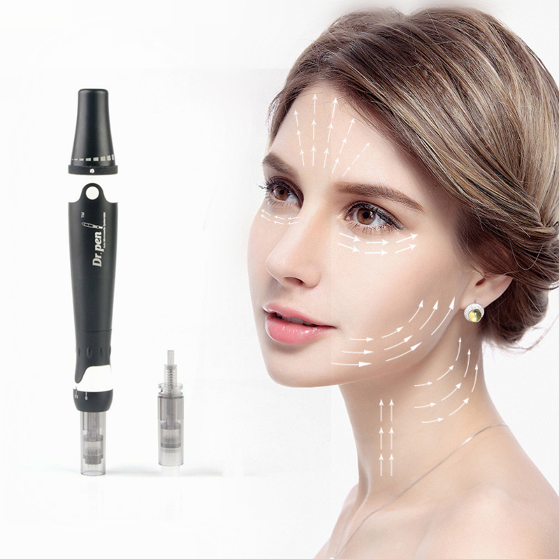 Dr pen Ultima A7 Microneedling Derma Skin Care Pen Auto Nano Chip Therapy System Permanent Derma Makeup Pen with Needle Tips-in Derma Roller from Beauty & Health