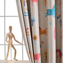 Милые плотные шторы для гостиной шторы для детей обувь мальчиков девочек анимированные мультфильм шторы