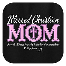 Summer Style 100% Cotton Letter Printed T Shirts 'Blessed Christian Mom'