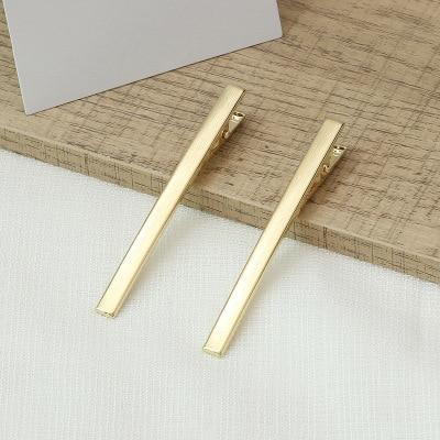 Coreia do sul contratou INS clipe palavra hairpin adulto o contato de metal clipe estrondo hairpin tiara dourada