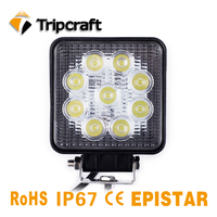 2PCS 27W 1800LM LED WORK LIGHT 4X4 ATV SUV OFFROAD CAR LED RAMP 12V 24V IP67