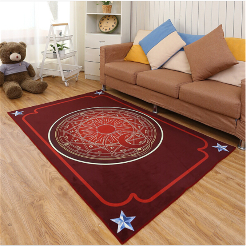 Lovely Kid Star Array Creative Polyester Printed Carpets For Living Room Bedroom Kid Roo ...