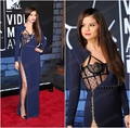 Selena Gomez MTV music awards 2017 Знаменитости Платья Красного Ковра Длинные Рукава Sexy Щелевая Бисера Длина Пола Длинные Вечерние Платья