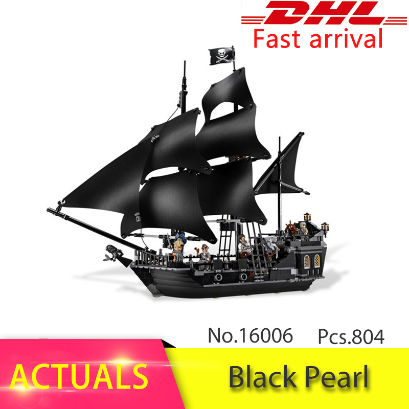 LEPIN 16006 804pcs  Pirates of the Caribbean Black Pearl Dead Ship model Buildng Blocks Children toys Bricks Compatible legoing waz compatible legoe pirates of the caribbean 4184 lepin 16006 804pcs the black pearl building blocks bricks toys for children