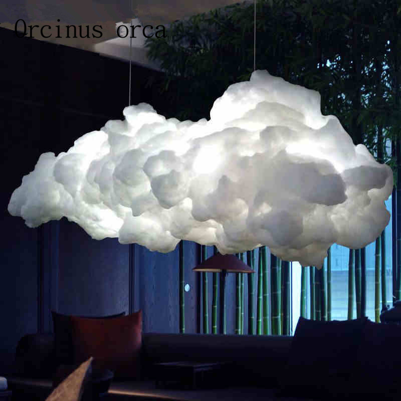 Nordic cloud chandelier creative personality hotel restaurant lighting art living room LED lamps Postage free contemporary and contracted creative personality retro art glass chandelier cafe restaurant study lamps act the role of milan