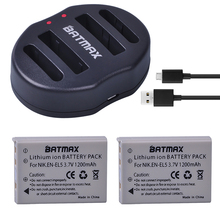 2-Pack EN-EL5 ENEL5 En El5 Li-ion Rechargeable Battery + Dual USB Charger for Nikon Camera Coolpix P80 P90 P100 P500 P510 P520