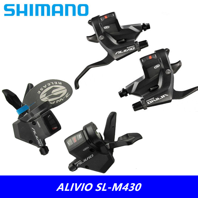 Cycling Brand New Original Shimano Alivio Sl-m430 Mountain Bike Ride 9/27 Speed Mountain Bike Conjoined Split Type Dial New Varieties Are Introduced One After Another Bicycle Derailleur