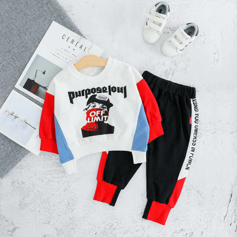 Autumn Spring Children  Baby Boys Girl Clothes Toddler Cotton Clothing Suits Kid Casual T Shirt Pants Sets Infant Sports Costume
