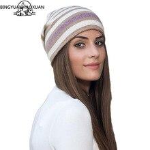 ec3de14489a78 BINGYUANHAOXUAN nueva llegada Popular sombreros mujeres sombreros para la  primavera y el otoño de punto