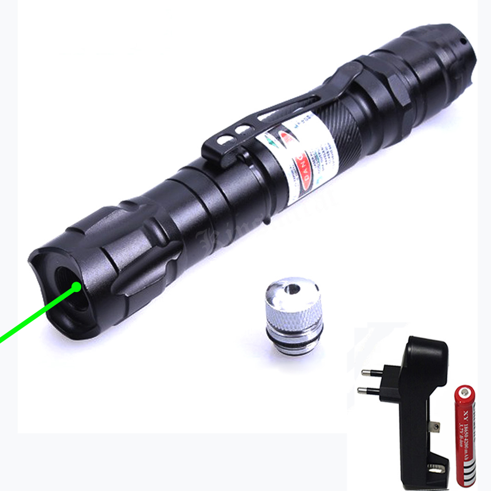 High Power Green Laser Pointer 532nm 5mW Laser Pen Adjustable Powerful Starry Head With 18650 Battery+Charger sd 210 aluminum 5mw 532nm green laser pointer black 1 x 18650