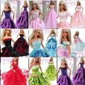 30 items =10 dresses +10 pairs shoes +10 hangers / Top Quality Gown Clothing Skirt Outfit Accessories For 1/6 Kurhn Barbie Doll