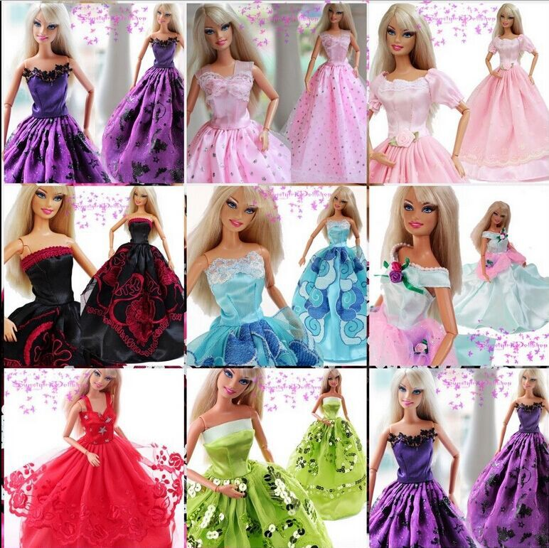 30 gadgets =10 attire +10 pairs footwear +10 hangers / Prime High quality Robe Clothes Skirt Outfit Equipment For 1/6 Kurhn Barbie Doll