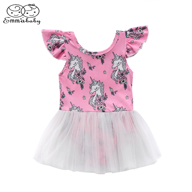 37d96d269 Emmababy New Fashion Kids Baby Girls Unicorn Tutu Dress Tulle Party ...