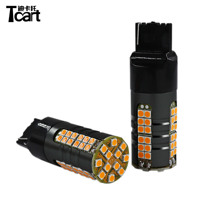 Tcart car accessories <font><b>LED</b></font> Car Turn Signal Lights Bulbs BA15S P21W 1156 <font><b>PY21W</b></font> WY21W T20 7440 <font><b>Orange</b></font> Yellow Lamps image