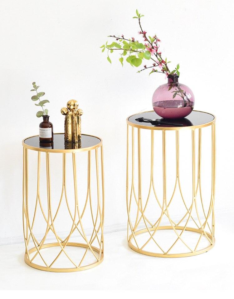 Modern Style Light Luxury Iron Art Coffee Table Gold Model Room