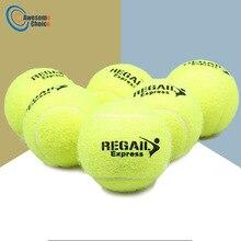 6 шт. теннисные мячи для тренировок, высокое качество, синтетические волокна, качественные резиновые мячи для соревнований, стандартные теннисные мячи