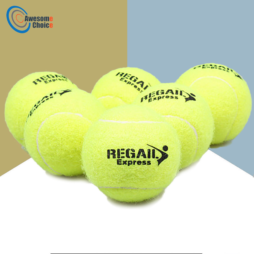 6 Pcs Tennis Balls For Training 100% High Quality Synthetic Fiber Quality Rubber Competition Standard Tenis Balls