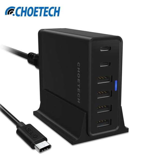 Tipo C Carregador USB, 55 w multi portas usb estação de carregamento com porta usb-c cabo para nexus 5x6 p lumia 950 950xl iphone meizu pro