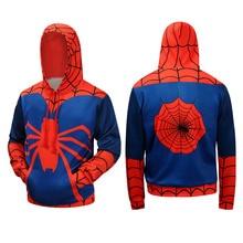 The Avengers 3 Superhero Hoodie Spiderman Venom Winter Autumn Thin Hoodies Iron Spider-man Casual Warm Sweatshirt Outfit